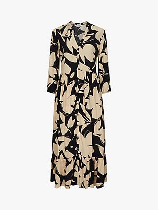 Calvin Klein Floral Print Maxi Dress, Multi