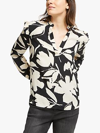 Calvin Klein Floral Frill Blouse, Multi