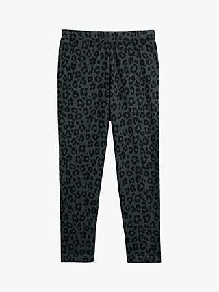hush Cropped Animal Print Leggings, Charcoal Leopard