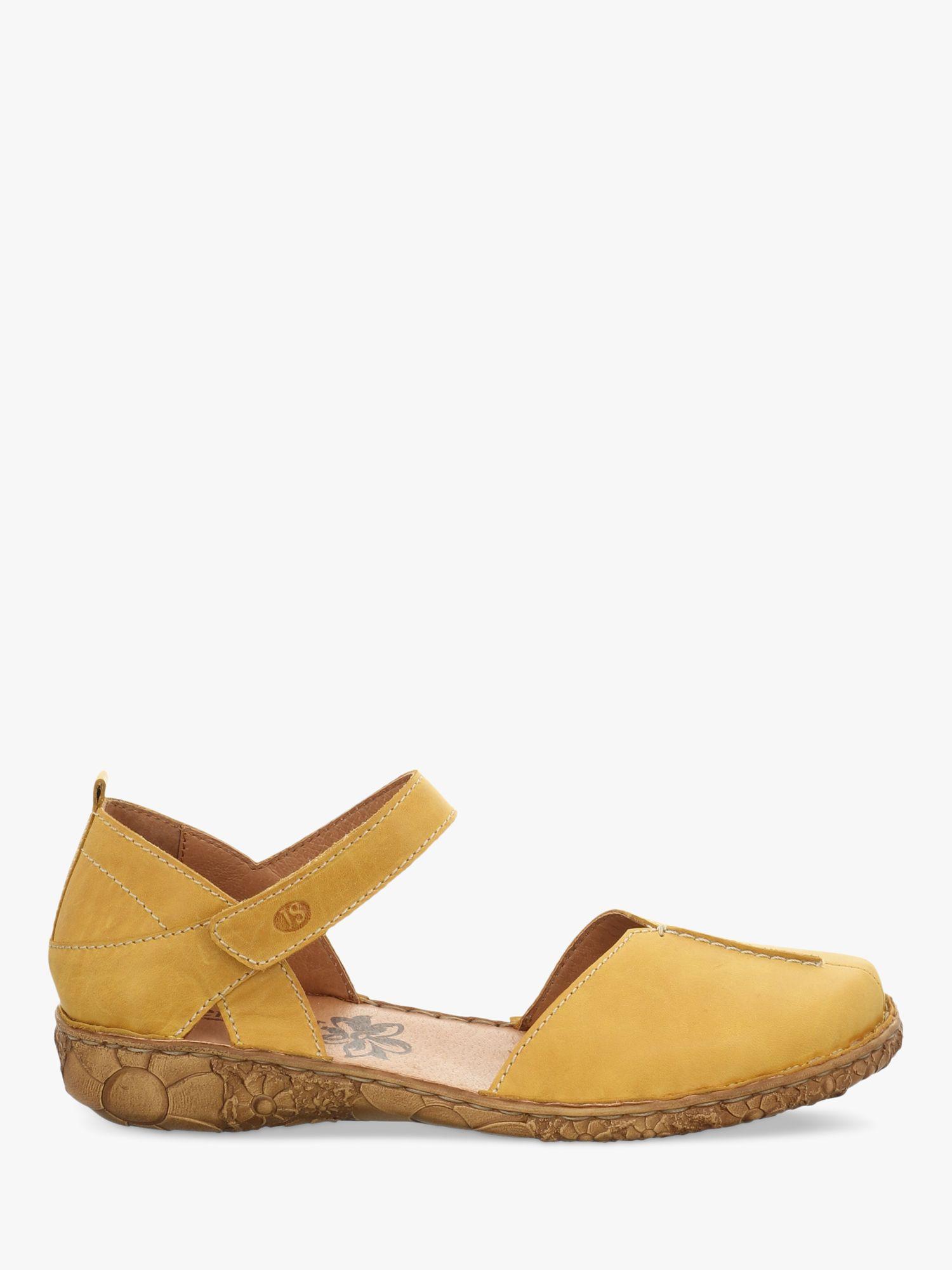 Josef Seibel Josef Rosalie 42 Leather Sandals, Yellow