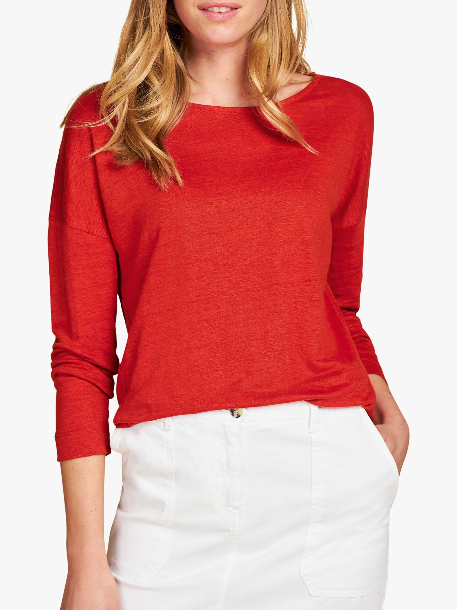 Pure Collection Pure Collection Linen Jersey Top