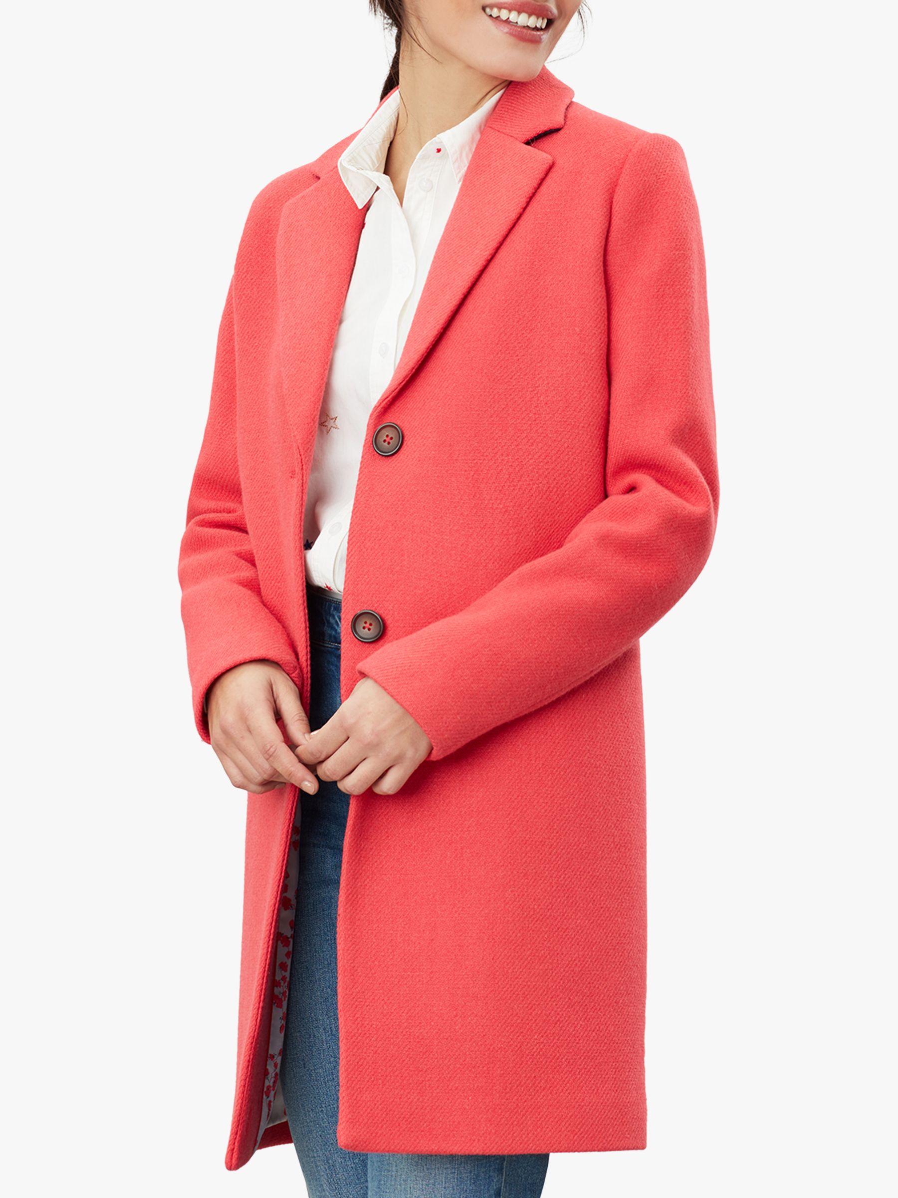 Joules Joules Walton Crombie Coat, Poppy