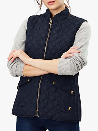 Joules Minx Quilted Gilet, Marine Navy