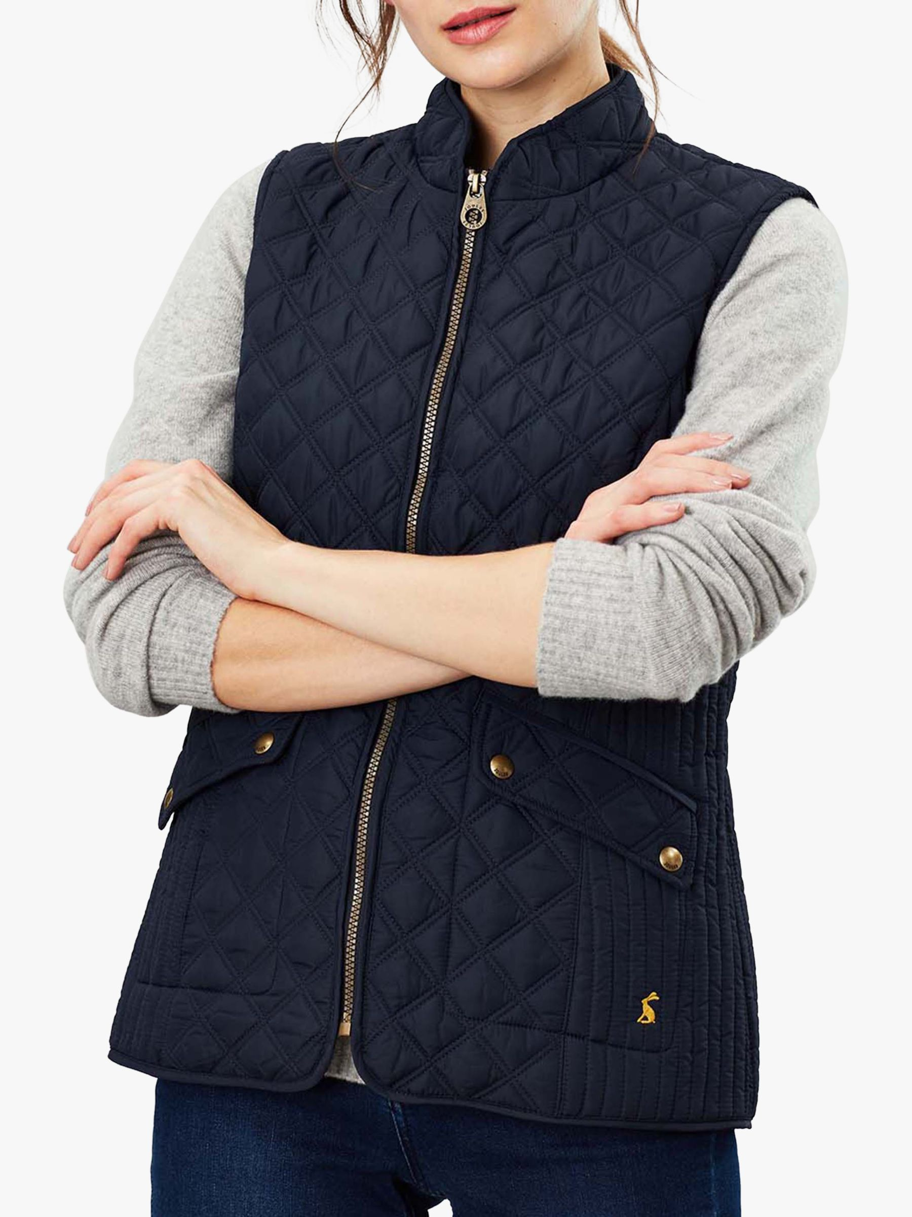 Joules Joules Minx Quilted Gilet, Marine Navy