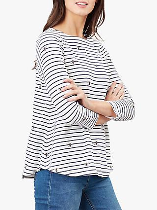 Joules Harbour Cotton Top, Bee Stripe