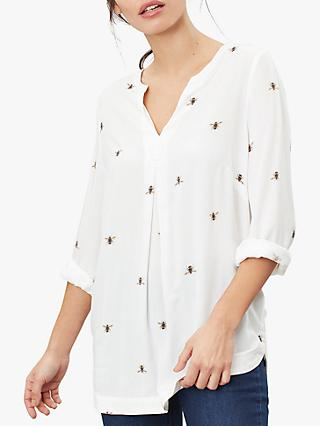 Joules Rosamund Bee Top, Cream