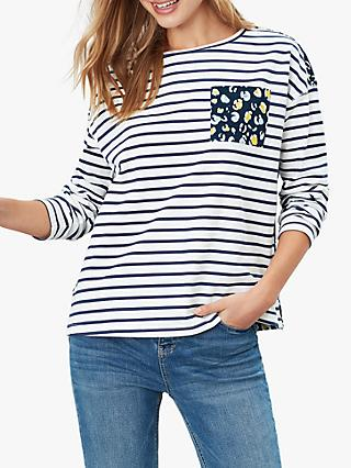 Joules Marina Top, French Navy Leopard