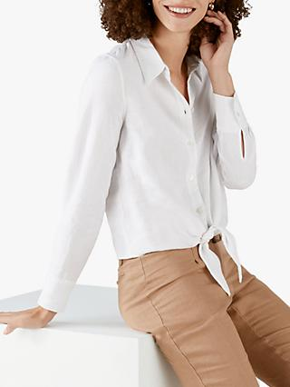 Pure Collection Linen Tie Hem Shirt
