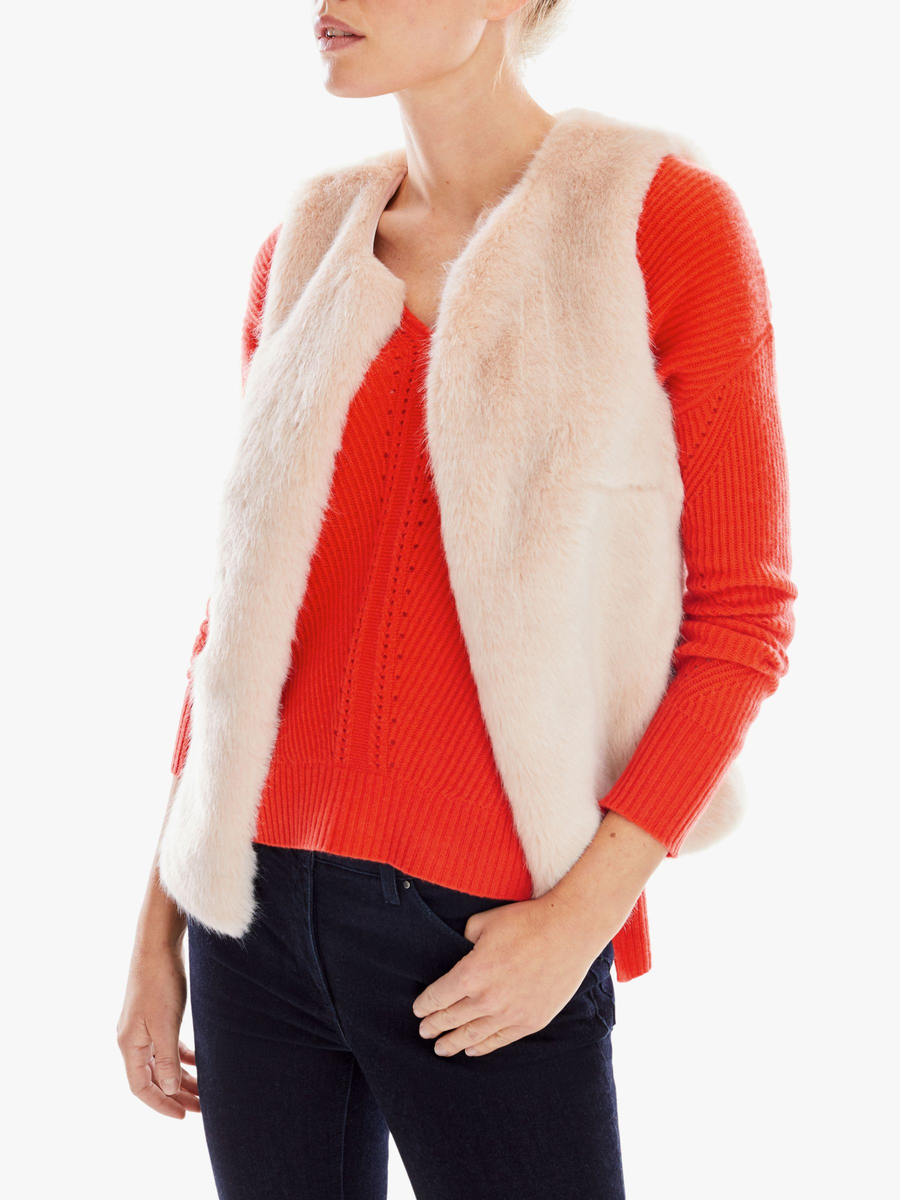 Pure Collection Pure Collection Faux Fur Gilet, Oyester
