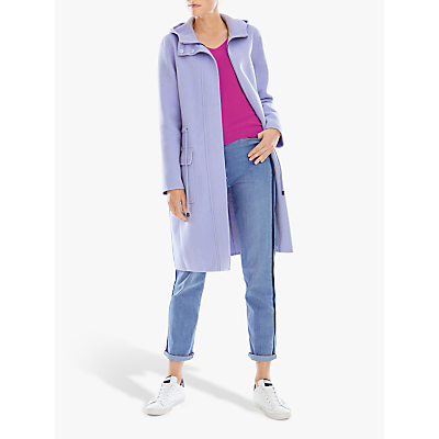 Pure Collection Double Faced Coat, Cornflower