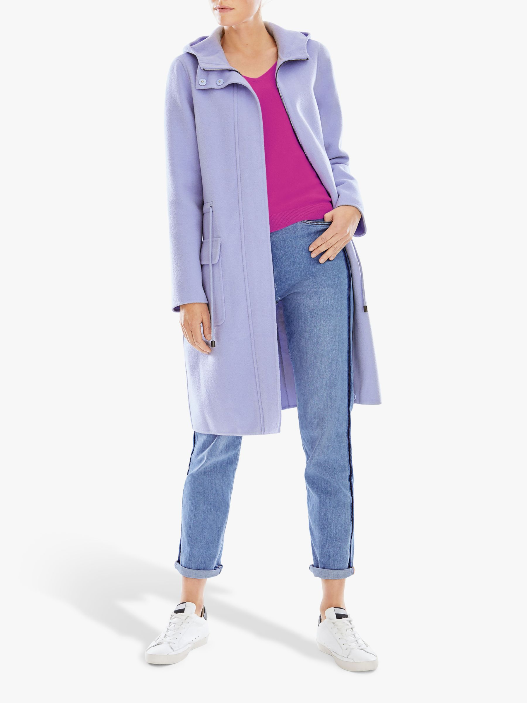 Pure Collection Pure Collection Double Faced Coat, Cornflower