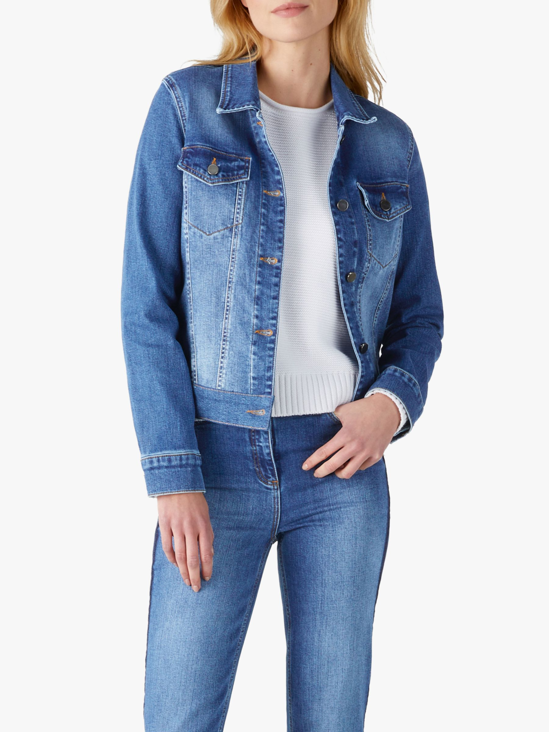 Pure Collection Pure Collection Denim Jacket, MId Wash