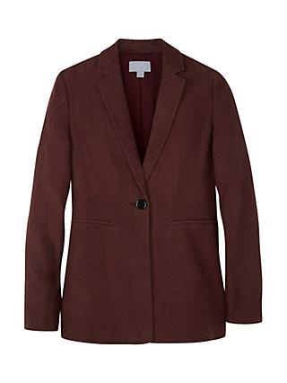 Pure Collection Longline Linen Blazer