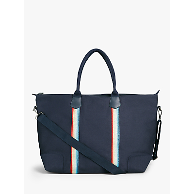 Product photo of Hush fairfax canvas holdall navy glitter