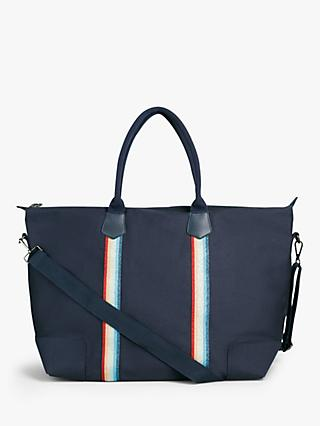 hush Fairfax Canvas Holdall, Navy/Glitter