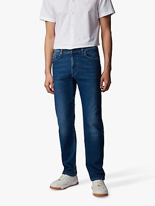 BOSS Albany Straight Fit Jeans, Medium Blue