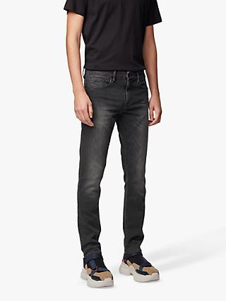 BOSS Charleston Stretch Denim Skinny Jeans, Black