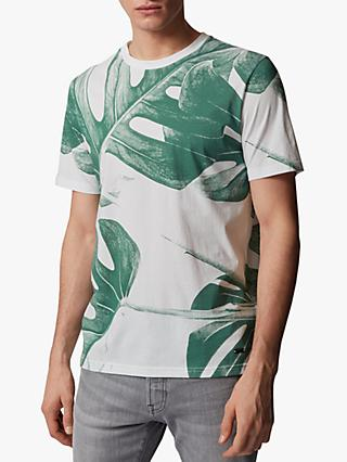 BOSS Jungle Leaf Crew Neck T-Shirt, White