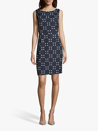 Betty & Co. Circle Print Sleeveless Dress, Midnight/White