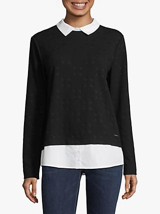 Betty & Co. Layer Effect Spotted Top, Black