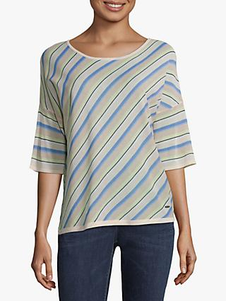 Betty Barclay Striped Top, Light Blue/Cream