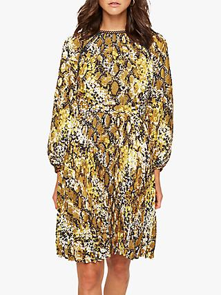 Damsel in a Dress Naia Snake Print Dress, Yellow