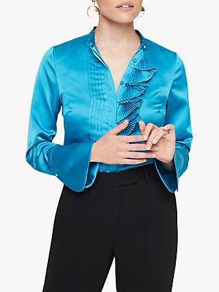 Damsel in a Dress Kizzie Ruffle Blouse, Turquoise