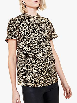 Oasis Leopard Print T-Shirt, Brown