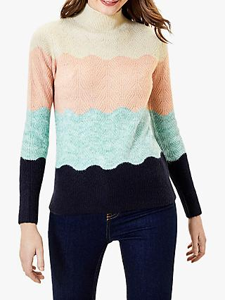 Oasis Wavy Stripe Jumper, Multi