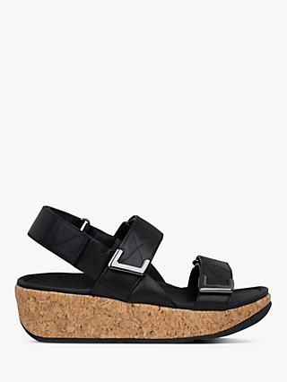 FitFlop Remi Leather Strap Flatform Sandals