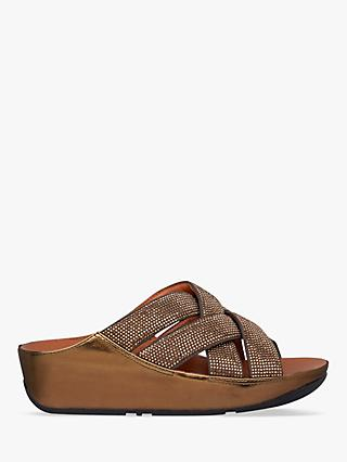 FitFlop Lattice Embellished Cross Sliders