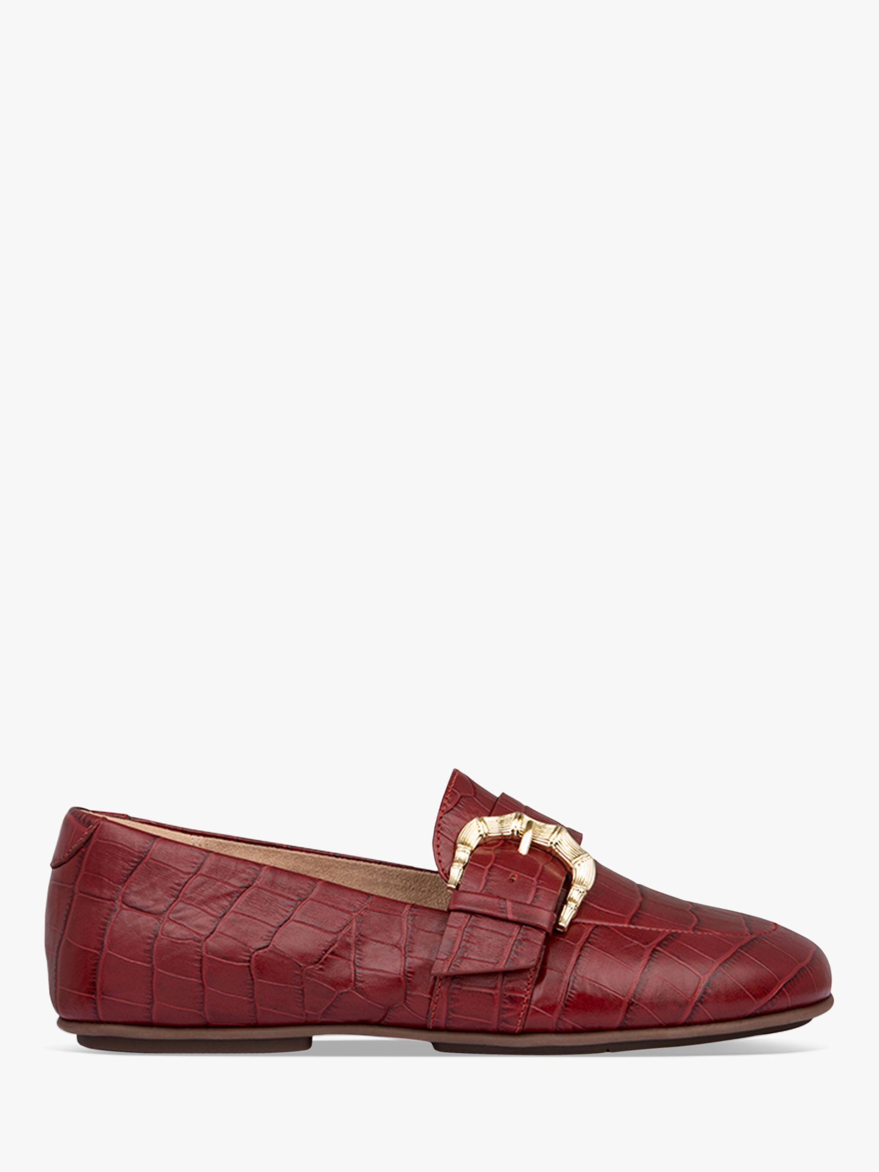 Fitflop FitFlop Lisbet Croc Embossed Leather Loafers