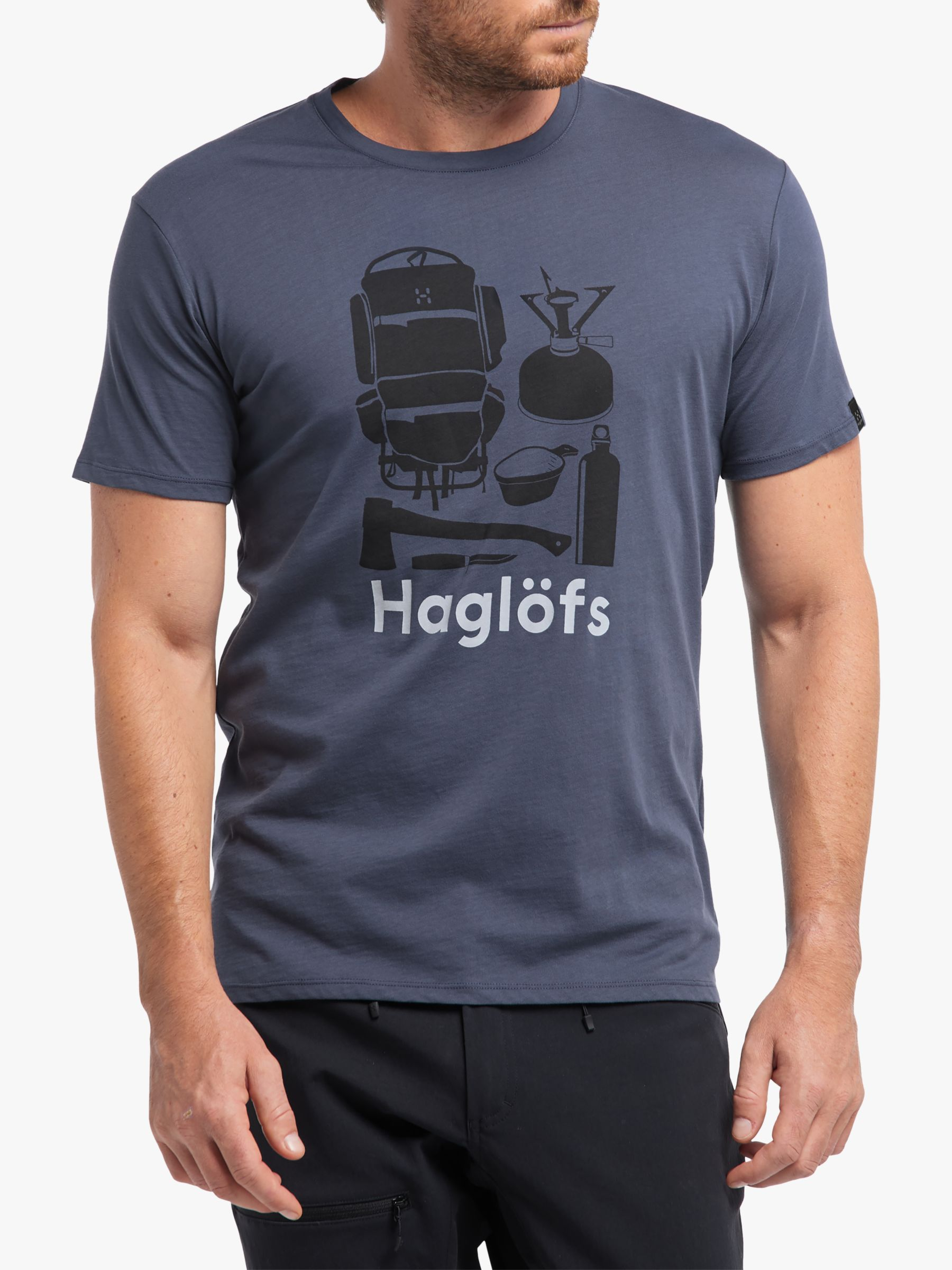 Haglofs Haglöfs Camp Organic Cotton T-Shirt, Dense Blue/True Blue