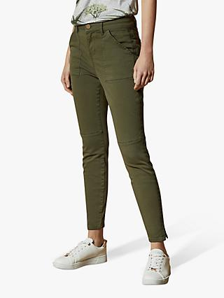 Ted Baker Combate Skinny Jeans, Olive