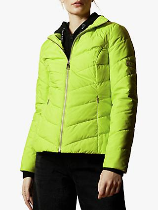 Ted Baker Renika Short Quilted Jacket, Mid Yellow