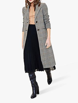 Oasis Check Coat, Grey