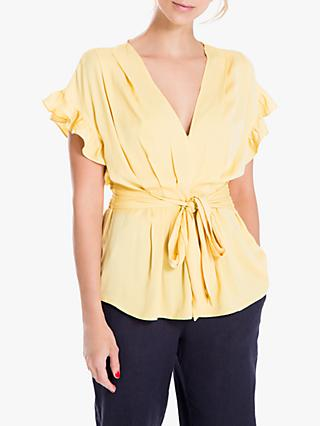Max Studio Short Sleeve Tie Front Top, Maise