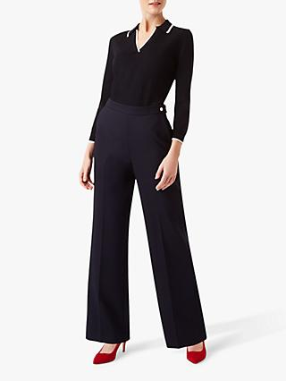 Hobbs Kendall Trousers, Navy