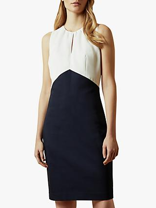 Ted Baker Turga Fitted Dress, Navy