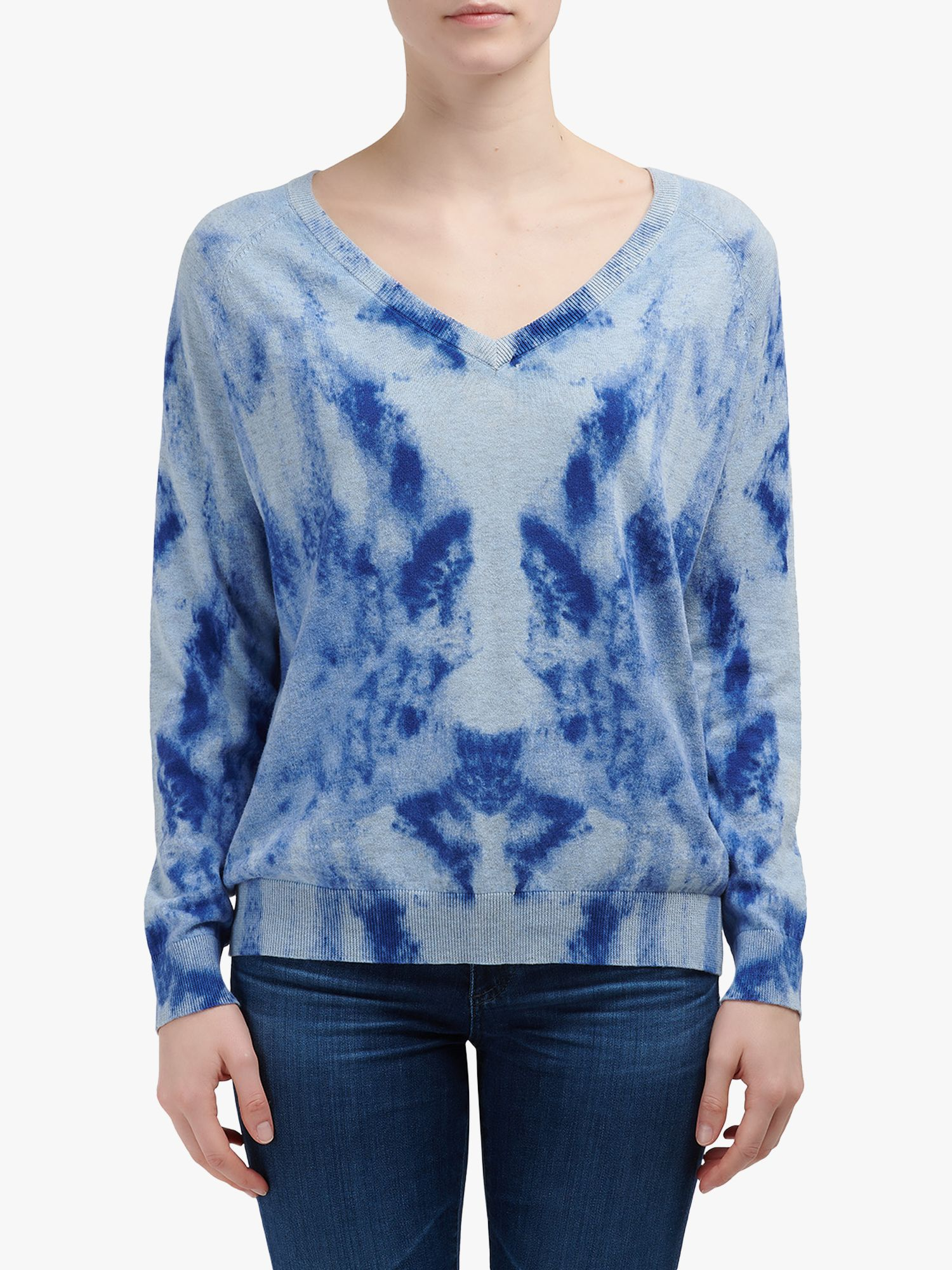 Jeff JEFF Cloud Tie Dye Jumper, Saphir
