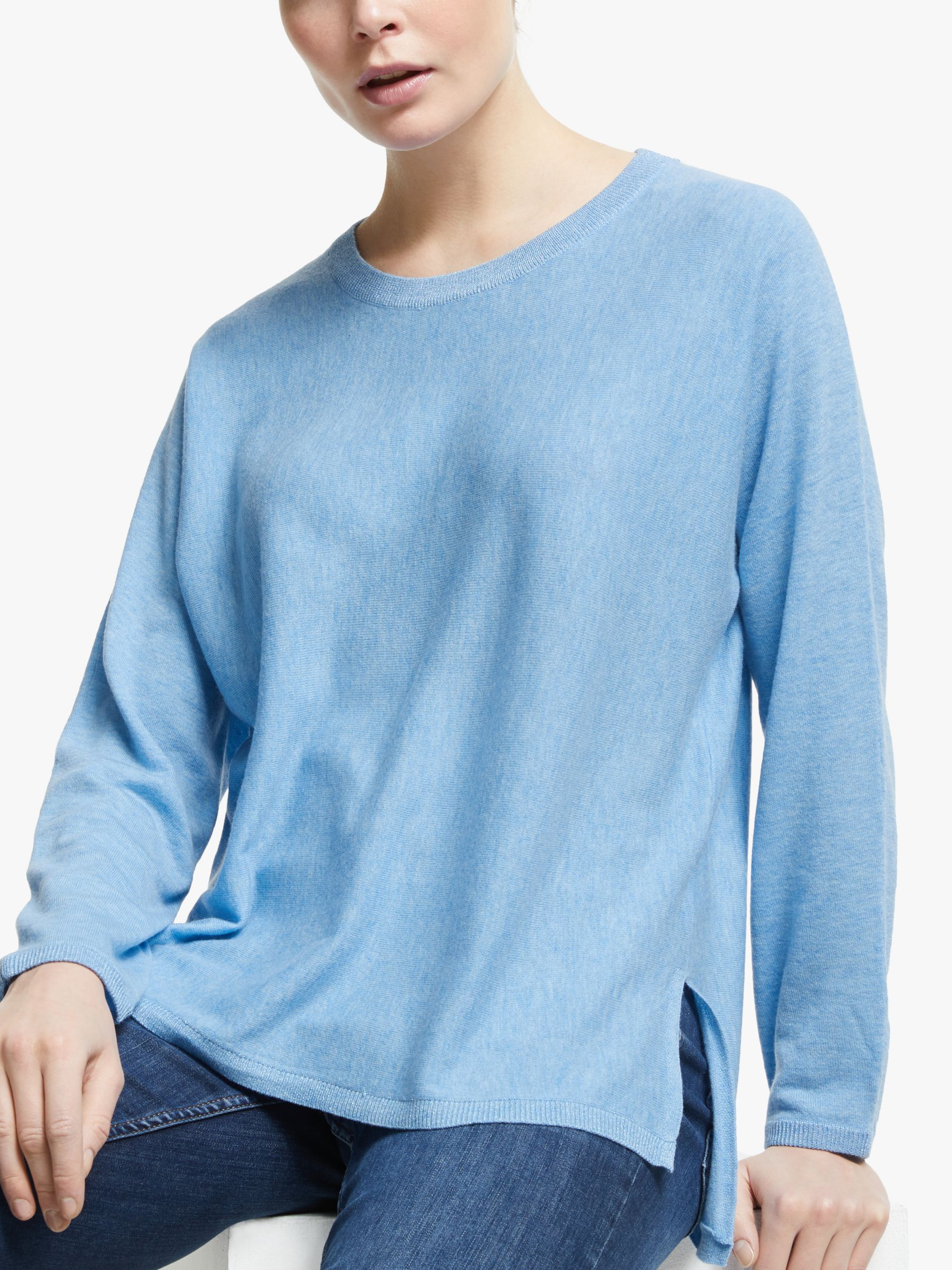 Jeff JEFF Crew Neck Jumper, Light Blue