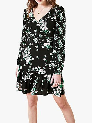 Oasis Dandelion Skater Dress, Multi/Black