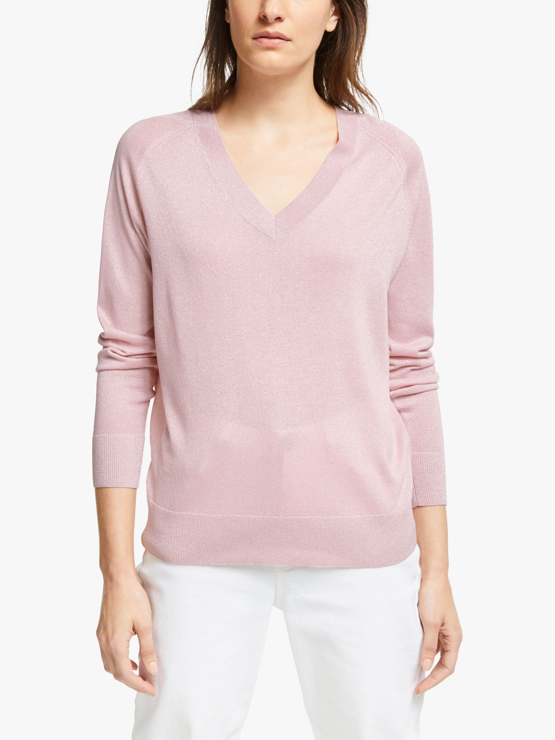 Jeff JEFF Ellen Metallic Jumper, Pink