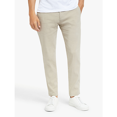 Theory Curtis Linen Blend Trousers, Natural