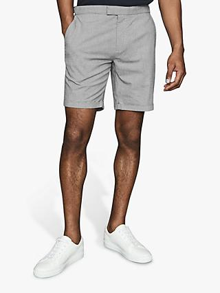 Reiss Joey Puppytooth Chino Shorts, Navy/White