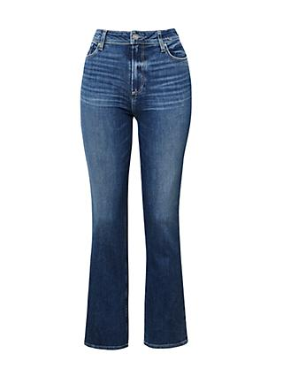 Paige Claudine High Rise Flared Jeans, Roadie Distressed