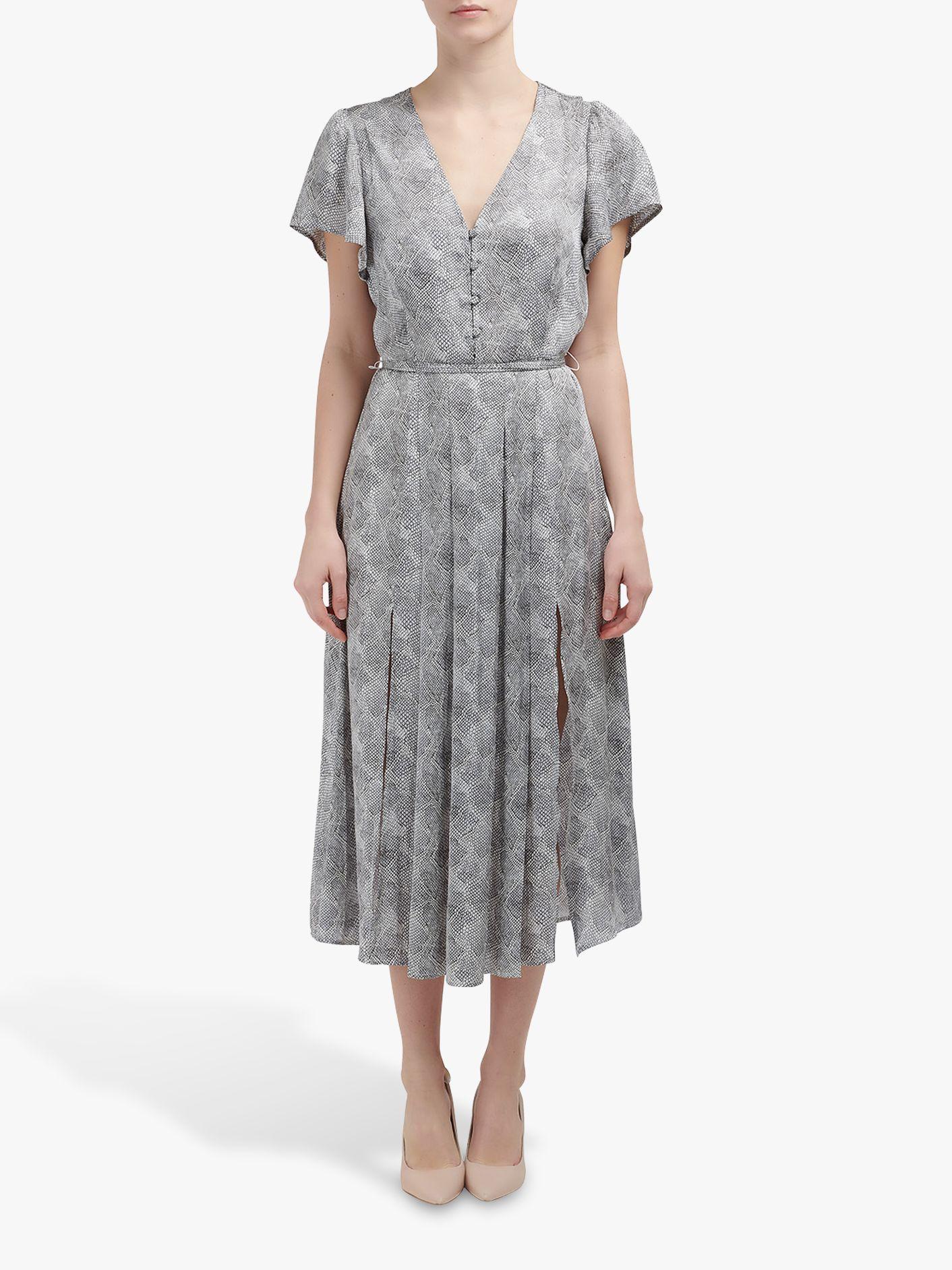 Paige Paige Alayna Snake Print Dress, Silver