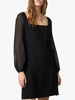 French Connection Addinalla Crepe Square Neck Mini Dress