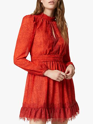 French Connection Dayo Mini Dress, Poppy Red
