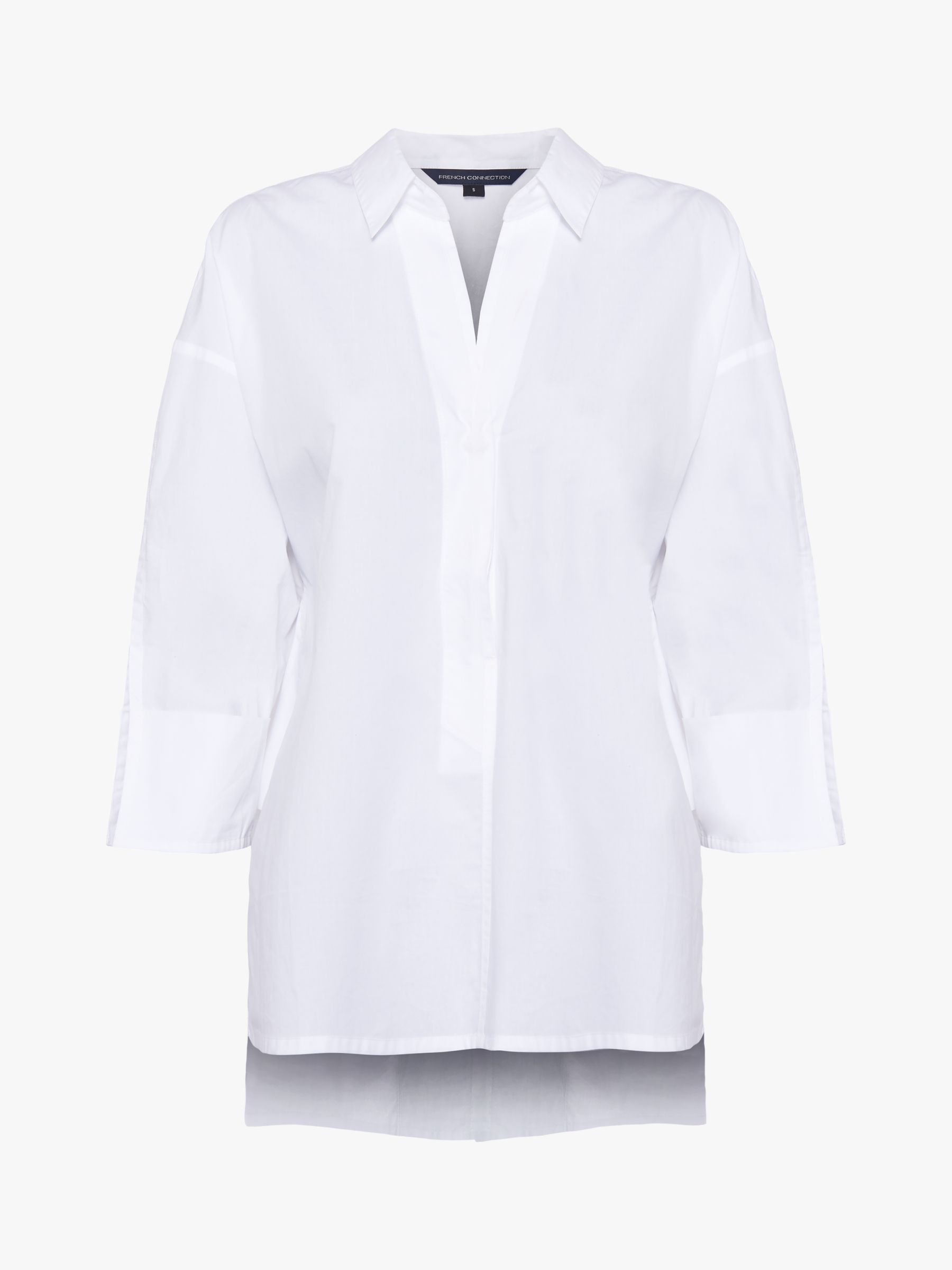 Buy French Connection Aoko Rhodes Poplin Popover Shirt, Linen White, XS Online at johnlewis.com